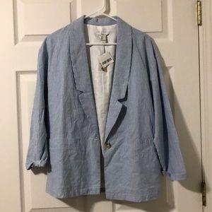 Forever 21 Blue Stripped Blazer